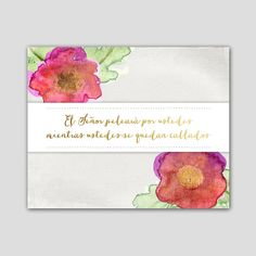 Spanish Bible Verse Printable  Éxodo 14:14 by AnimaDolce on Etsy