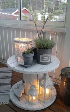 Antique+White+Pieces+Show+Off+a+Potted+Herb+Garden+Beautifully