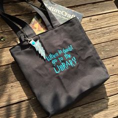 A personal favorite from my Etsy shop https://www.etsy.com/listing/243283980/literary-geek-library-tote-canvas