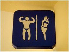 Panneaux de toilettes