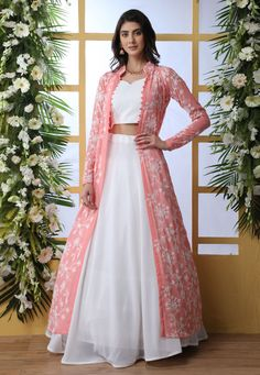 Buy wedding lehenga choli online buy all latest design. This deserving faux georgette designer a line lehenga choli for festival, party and reception. Party Wear Indian Dresses, Designer Party Wear Dresses, Indian Fashion Dresses, Indian Gowns Dresses, Party Wear Lehenga, Kurti Designs Party Wear, Dress Indian Style, Indian Wedding Outfits, Indian Designer Outfits