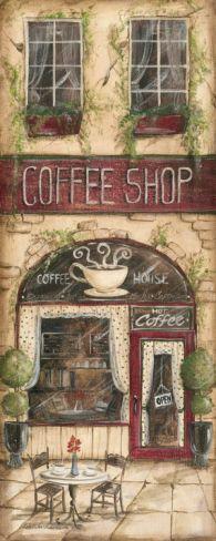 Coffee Shop Print by Kate McRostie at Art.com