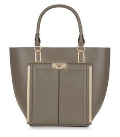 Mink Leather-Look Tote Bag