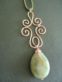 beautiful wire work pendant (LilyGirl Jewelry: In the Studio: Artful Copper)  #wirework #jewelry