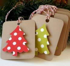 Las etiquetas en forma de árboles de Navidad.  plantilla