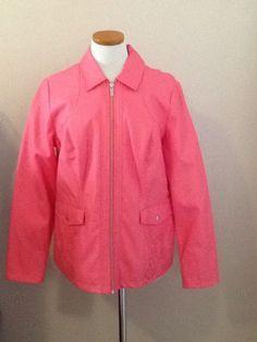 WOW NEW Pink Faux Leather DENNIS BASSO Jacket Size MED #DennisBasso #BasicJacket