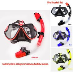 Myopia lens scuba diving set  nearsighted men and women diving gears tempered dive mask and dry snorkel Gopro camera dive mask