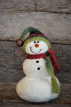 Bear Creek Snowman Needle Felted Snowmen 660 by BearCreekDesign
