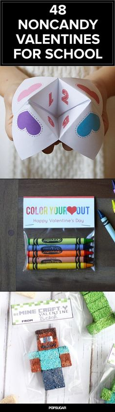 The 48 Best Noncandy Valentine Ideas For Kids, great for school parties and allergies!