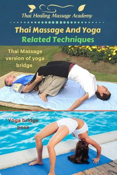 Is this a Thai Massage technique or Partner Yoga? When should you use such techniques? Thai Yoga Massage, Massage Tips, Massage Techniques, Massage Therapy, Yoga Bridge Pose, Human Knee, Learn Thai, Online Training Courses, Getting A Massage