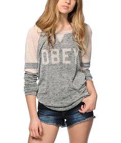 9a4a890d7a Obey Collegiate 2 Long Sleeve Shirt