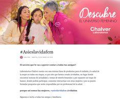 ¡Da click en la imagen y descubre el universo femenino! #asieslavidafem #chalverlaboratorios