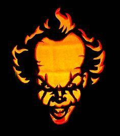 25 Scary & Spooky Halloween Pumpkin Carving Ideas 2017 for Kids & Adults Pennywise-IT-Clown-pumkpkin Awesome Pumpkin Carvings, Disney Pumpkin Carving, Amazing Pumpkin Carving, Creative Pumpkin Carving Ideas, Halloween Pumpkin Carving Stencils, Halloween Pumpkin Designs, Pumpkin Carving Templates, Carving Pumpkins, Pumkin Stencils