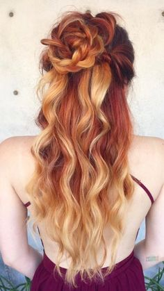 couleur de cheveux ombre de fraise