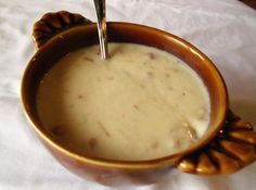 Monterey Jack Cheese Soup ~ 2C Chicken Broth • 1C Tomatoes, peeled and diced (or canned) • 4oz can Green Chiles, chopped • 1C Onion, finley chopped • 3C Monterey Jack, coarsley chopped (¾lb) • 6T AP Flour (¼C + 2T) • ½t Salt • 6T Butter, melted • 5C Milk, hot • ⅛t Pepper • ½t Garlic, minced