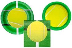 Tennis Party Supplies Set - Bundle Includes Plates and Napkins for 8 Guests Tennis Party, Party Supplies, Napkins, Plates, Amazon, Licence Plates, Dishes, Amazons, Towels