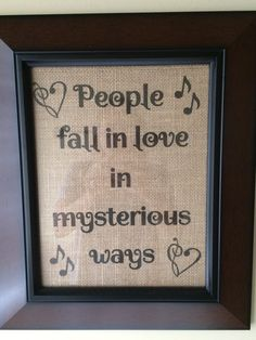 Thinking Out Loud, Ed Sheeran, Printed Burlap Sign, First Dance Song Lyrics, Burlap Home Decor, Burlap Print by DestinForWood on Etsy https://www.etsy.com/listing/240465768/thinking-out-loud-ed-sheeran-printed