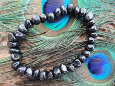 Mysterious Black NUUMMITE BRACELET With by EarthFamilyCrystals, $45.00
