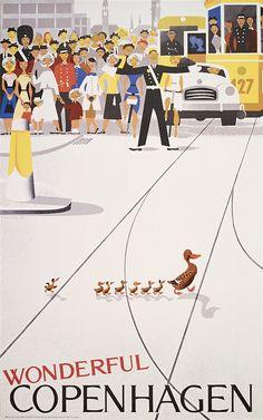 'Wonderful Copenhagen / Vintage Travel Poster' Poster by vintagetravel Vintage Advertising Posters, Vintage Travel Posters, Vintage Advertisements, Copenhagen Travel, Copenhagen Denmark, Poster A3, Poster Prints, Art Posters, Framed Prints