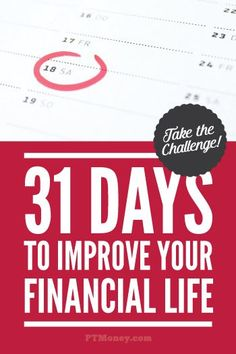 PT's money challenge offers 31 easy, actionable ways to improve your financial life! Ideas for saving, investing, and making more money. Each day of the month read about and implement a new strategy. Ways To Save Money, Make More Money, Money Saving Tips, Quick Money, Money Tips, Mo Money, Saving Time, Money Challenge, Financial Tips