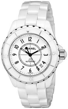 04dd25ef879 Amazon.com  Chanel Women s H0970 J12 White Ceramic Bracelet Watch  Watches