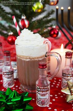 This holiday season try your peppermint cocoa spiked with the delicious Limited Edition Peppermint Twist. This candy cane cocktail is perfect for christmas parties or cozy nights in front of the fire.