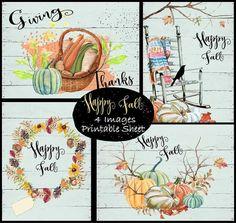 Happy Fall Printable Sheet by lindakdesign on Etsy