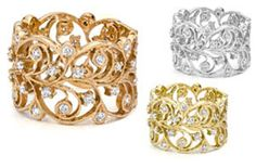 18K Medium Lace Diamond Ring  Maria Tash