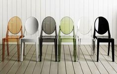 Sillas Louis Ghost, Side Chairs, Dining Chairs, Dining Room, Room Chairs, Lucite Chairs, Kitchen Dining, Chair Design, Ideas