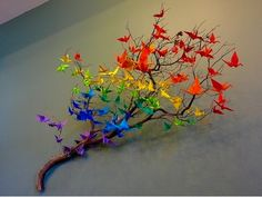 Fun easy rainbow tree