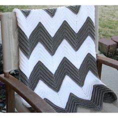 I must make this!!! Custom Design Your Own Chevron Crochet Baby/Toddler Afghan  Price:$35.00