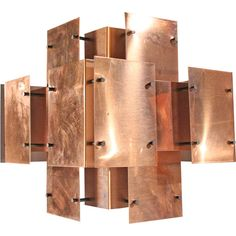 Polished Copper Floating Panel Chandelier by Robert Sonneman Chandeliers, Chandelier Pendant Lights, Modern Chandelier, Copper Lighting, Antique Lighting, Copper House, Tall Table Lamps, Copper Interior, Copper Work