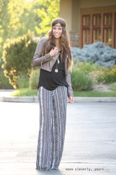 xoxo cleverly, yours: palazzo pants = best pregnancy pants ever.