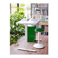 IKEA - NILSERIK, Stool, white/Vissle green,