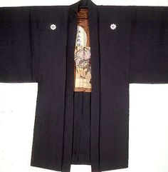 Luxury clothing from late 19th century #Japan: men's reversible haori or topcoat.