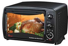 Éste es un horno eléctrico y sirve para cocinar muchas platos en manera muy práctica y veloz.
