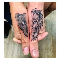 Jaguar Tatto - Matching tattoo Couple tattoo -Lion Jaguar Tatto - Matching tattoo Couple tattoo - 31 Adorable Tattoo Ideas Tattoo casal ASAS ❤ @ Usem a // . get some inspirations fr. Dope Tattoos, Unique Tattoos, Body Art Tattoos, Hand Tattoos, Small Tattoos, Sleeve Tattoos, Neck Tattoos, Tatoos, Arabic Tattoos
