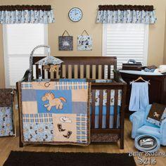 Trend Lab Baby Boy Cowboy Horse Pony Theme Crib Nursery Bedding Quilt Bed Set