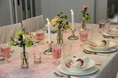 Kommunion Mädchen Tischdekoration rosa