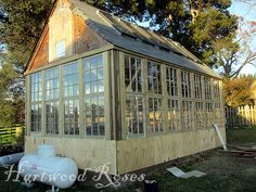 Greenhouse (still in progress) made from salvaged windows