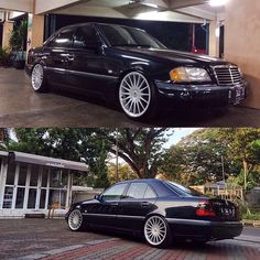 Via: @adhi.sh || #mercedes #benz #w202 #w202gram #wheels #low #lowered #stance #clean #illest #euro #carporn #love #stancenation #cargramm #instacar #carswithoutlimits #blacklist ||