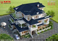 House Floor Design, House Outside Design, Bungalow House Design, House Plans Mansion, Luxury House Plans, Dream House Plans, Modern Small House Design, House Design Pictures, Beautiful House Plans