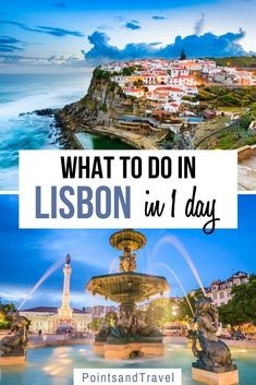 What to do in Lisbon in 1 Day. If you're short on time and only have one day in Lisbon, then this post is perfect for you. I will cover everything you need to know to plan the perfect One day Lisbon Itinerary and make the most of your short stay. One day in Lisbon, Lisbon Itinerary, 24 hours in Lisbon,#Lisbon #itinerary Europe Train Travel, Travel Around Europe, Europe Travel Guide, Spain Travel, Solo Travel, Travel Around The World, Travel Guides, Travel Destinations, Portugal Vacation