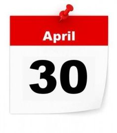 What Must I Do Before April 30 2016?