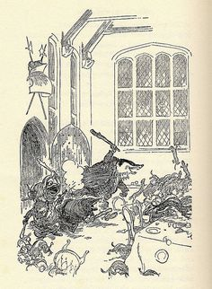 Stoat fight - The Wind in the Willows by Kenneth Grahame, 1931