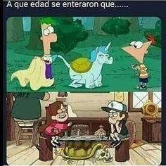 Gravity Falls Funny, Gravity Falls Fan Art, Gravity Falls Comics, Gravity Falls Secrets, Funny Disney Jokes, Disney Memes, Funny Jokes, Funny Spanish Memes, Crazy Funny Memes