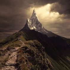 """""""Above All"""" by Karezoid Michal Karcz This reminds me of Caradhras. What if the alps are the Misty Mountains weathered down through the long years? See, I just proved that Middle Earth was/is real 😉. Beautiful World, Beautiful Places, Stunningly Beautiful, Amazing Places, Wonderful Places, Beautiful Pictures, Landscape Photography, Nature Photography, Mountain Photography"""