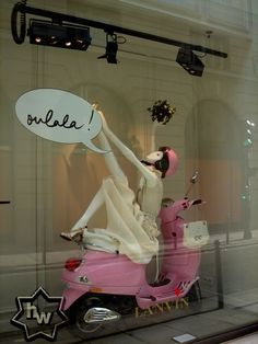 Ahhh!  I am going to borrow a Vespa for one of our windows... Then I come across this!! #retail #store #window #merchandising