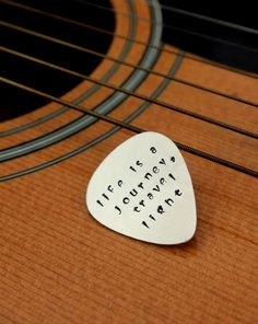 Guitar Pick Men Man Personalized Guitar Pick by whiteliliedesigns, $20.00 - great gift idea!