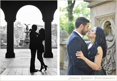 central park, angel fountain, Bethesda Terrace, nyc engagement photography
